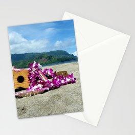 Ukulele at the bay Stationery Cards