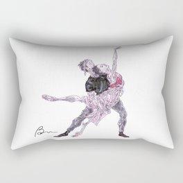Natalia Osipova and Matthew Ball in Romeo and Juliet Rectangular Pillow