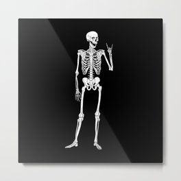 Rock Star Skeleton Metal Print