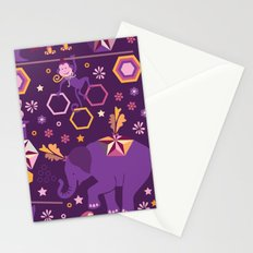 Hexagon circus Stationery Cards