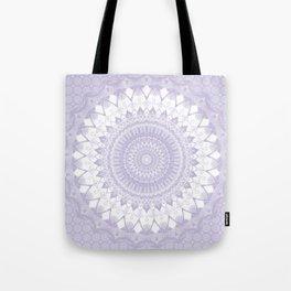 Boho Pastel Purple Mandala Tote Bag