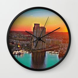Federal Hill Sunset Wall Clock