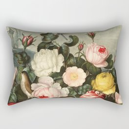 Pink  Red Floral : New Illustration Of The Sexual System Rectangular Pillow