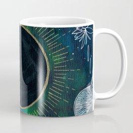 New Moon Original Mixed Media Painting Coffee Mug