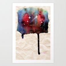 Little Nebula Watercolor Art Print