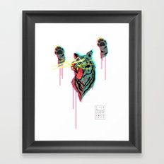 Tiger With F**king Lazers Framed Art Print