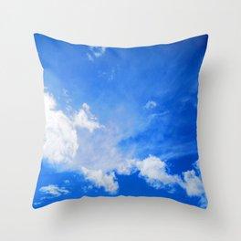 blue cloudy sky std Throw Pillow