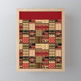 African motifs . Patchwork Framed Mini Art Print