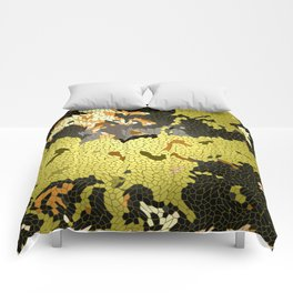 Abstract leaves mosaik Comforters