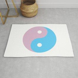 Transgender Yin Yang Symbol Rug