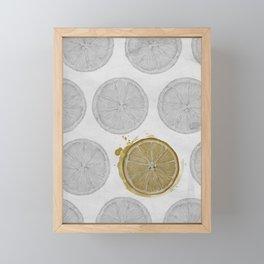 pattern of oranges Framed Mini Art Print