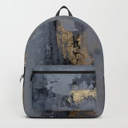 Gold gray abstract Backpack