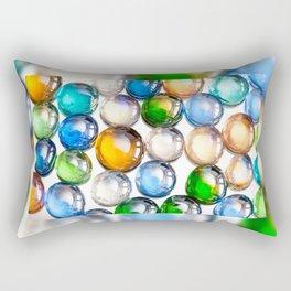 Plenty multicolored glass balls Rectangular Pillow