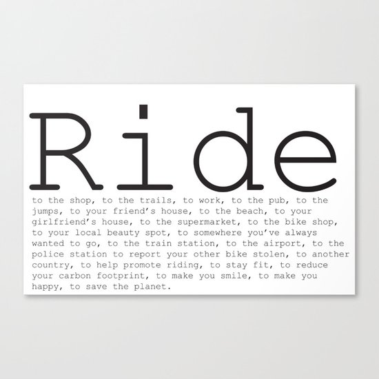 Ride To... Canvas Print