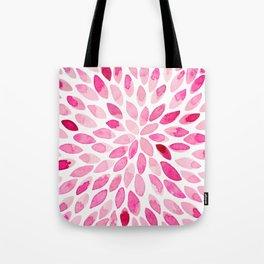 Watercolor brush strokes - pink Tote Bag
