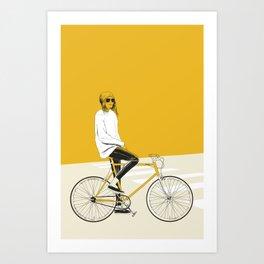 The Yellow Bike Art Print