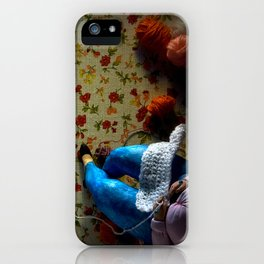 The knitter. iPhone Case