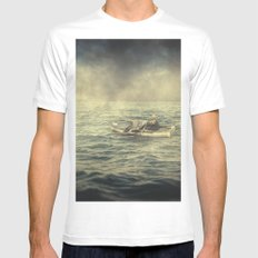 Old man and the sea MEDIUM White Mens Fitted Tee