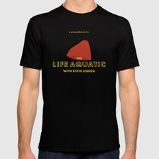 The Life Aquatic with Steve Zissou Beanie Poster X-LARGE Mens Fitted Tee Black
