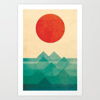 colour Art Prints featuring The ocean, the sea, the wave by Picomodi