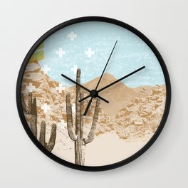 Desert Mountain Wall Clock