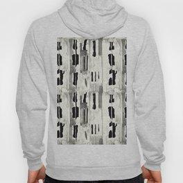 Minimal Black and Cream Abstract Design Hoody