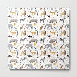 Safari Savanna Multiple Animals Metal Print