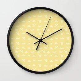 Japanese Origami Pattern - Yellow Wall Clock