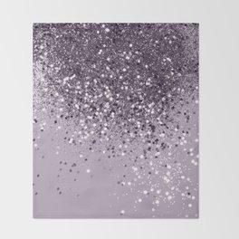 Sparkling Lavender Lady Glitter #2 #shiny #decor #art #society6 Throw Blanket