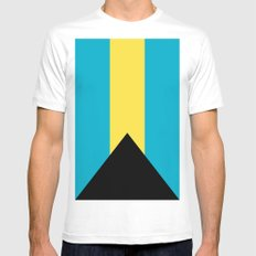 Flag Of The Bahamas MEDIUM White Mens Fitted Tee