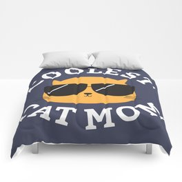 Coolest Cat Mom Comforters