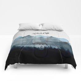California in Blue Comforters