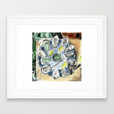 Day 83 - Oysters Framed Art Print