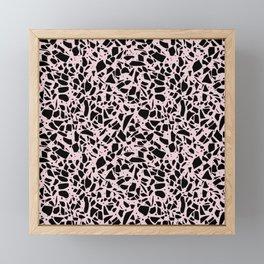 Terrazzo Spots Black on Blush Repeat Framed Mini Art Print