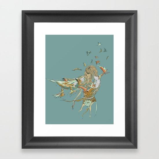 MELT INTO THE OCEAN Framed Art Print