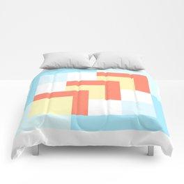 Squares Cyan + Burnt Umber Comforters