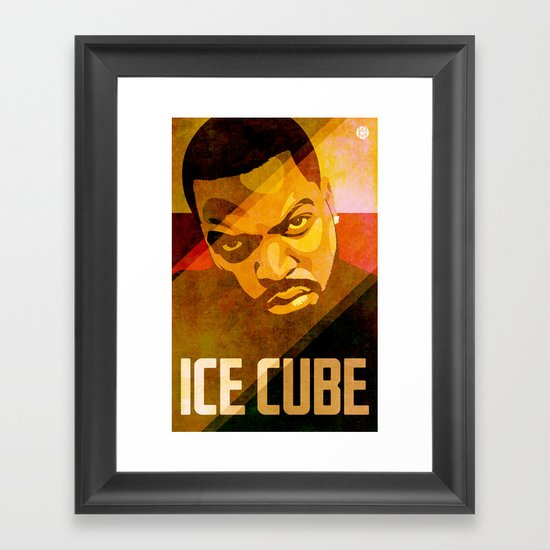 Ice Cube Framed Art Print