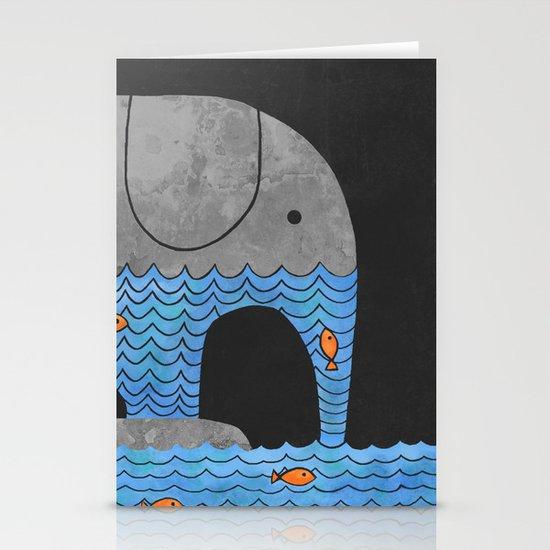 Thirsty Elephant  Stationery Cards
