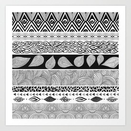 Tribal & Nature Play Art Print