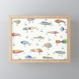 Fishing Lures Framed Mini Art Print