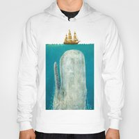 iphone 5 case Hoodies featuring The Whale  by Terry Fan