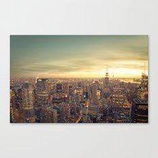 New York Skyline Cityscape Canvas Print