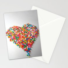 Colorful Heart Stationery Cards