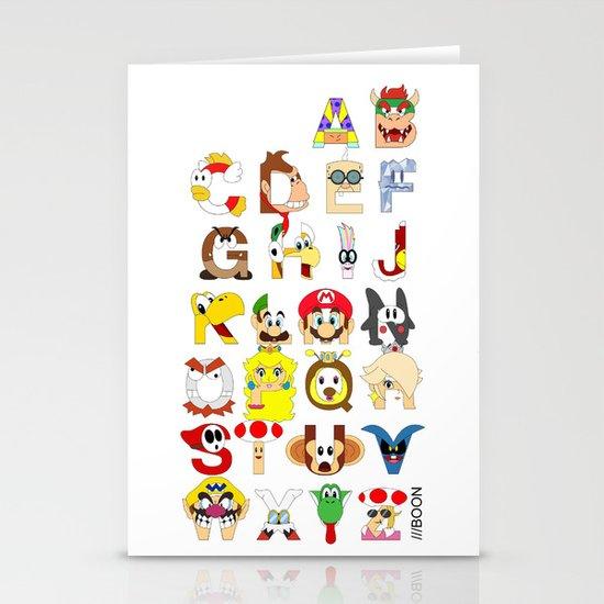 Super Mario Alphabet Stationery Cards