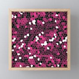 Rose Pink Polycamo Framed Mini Art Print