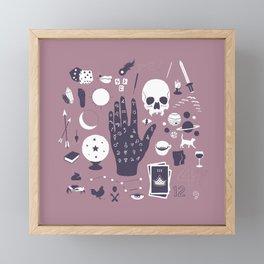 Methods of Divination - Purple Framed Mini Art Print