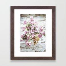 Chic Bouquet on Shabby Floor Framed Art Print