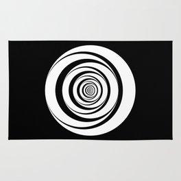 Black White Circles Optical Illusion Rug