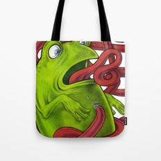 Frogs eat Insects Tote Bag