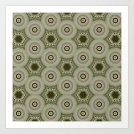 Fractal Cogs n Wheels in CMR02 Art Print